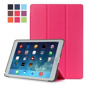 Сегментарный чехол книжка подставка на непрозрачной поликарбонатной основе для Ipad Pro 10.5  Пурпурный