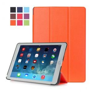 Сегментарный чехол книжка подставка на непрозрачной поликарбонатной основе для Ipad Pro 10.5  Оранжевый
