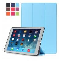 Сегментарный чехол книжка подставка на непрозрачной поликарбонатной основе для Ipad Pro 10.5  Голубой