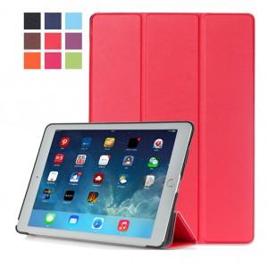 Сегментарный чехол книжка подставка на непрозрачной поликарбонатной основе для Ipad Pro 10.5  Красный