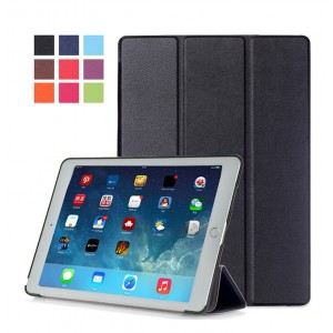 Сегментарный чехол книжка подставка на непрозрачной поликарбонатной основе для Ipad Pro 10.5  Черный