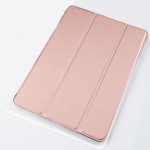 Сегментарный чехол книжка подставка на транспарентной поликарбонатной основе для Ipad Pro 10.5  Розовый