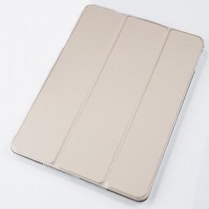 Сегментарный чехол книжка подставка на транспарентной поликарбонатной основе для Ipad Pro 10.5 Бежевый