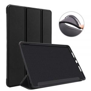 Сегментарный чехол книжка подставка на непрозрачной силиконовой основе для Ipad Pro 10.5 Черный