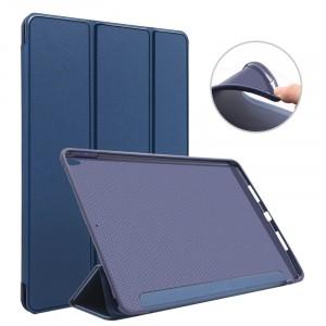 Сегментарный чехол книжка подставка на непрозрачной силиконовой основе для Ipad Pro 10.5 Синий