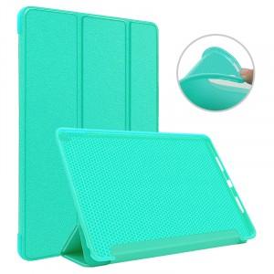 Сегментарный чехол книжка подставка на непрозрачной силиконовой основе для Ipad Pro 10.5  Зеленый