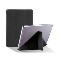 Оригами чехол книжка подставка на транспарентной силиконовой основе для Ipad Pro 10.5  Черный
