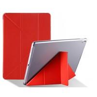 Оригами чехол книжка подставка на транспарентной силиконовой основе для Ipad Pro 10.5  Красный
