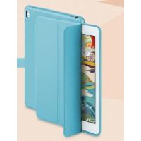 Сегментарный чехол книжка подставка на непрозрачной основе для Ipad Pro 10.5  Голубой