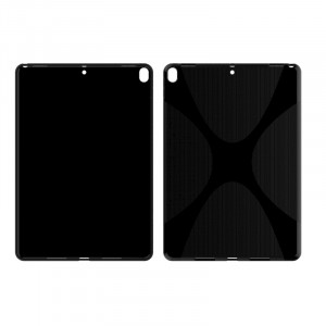 Силиконовый матовый непрозрачный чехол с дизайнерской текстурой X для Ipad Pro 10.5  Черный