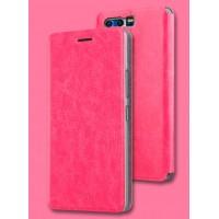 Винтажный чехол горизонтальная книжка подставка на силиконовой основе для Huawei Honor 9  Пурпурный