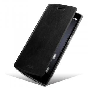 Винтажный чехол горизонтальная книжка подставка на силиконовой основе для OnePlus One  Черный