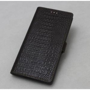 Кожаный чехол горизонтальная книжка подставка текстура Крокодил с крепежной застежкой для OnePlus 5