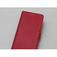Кожаный чехол горизонтальная книжка подставка с крепежной застежкой для OnePlus 5 Красный
