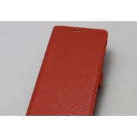 Кожаный чехол горизонтальная книжка подставка с крепежной застежкой для OnePlus 5 Оранжевый