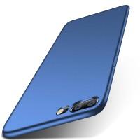 Силиконовый матовый непрозрачный чехол для OnePlus 5  Синий