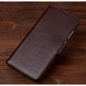 Кожаный чехол портмоне подставка (премиум нат. кожа) с крепежной застежкой для OnePlus 5