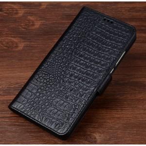 Кожаный чехол портмоне подставка (премиум нат. кожа крокодила) с крепежной застежкой для OnePlus 5