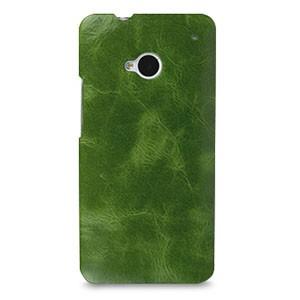 Кожаный чехол накладка (премиум нат. кожа) для HTC One (M7) One SIM (Для модели с одной сим-картой)