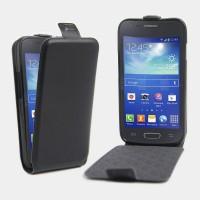 Чехол вертикальная книжка на силиконовой основе на магнитной защелке для Samsung Galaxy Ace 4  Черный