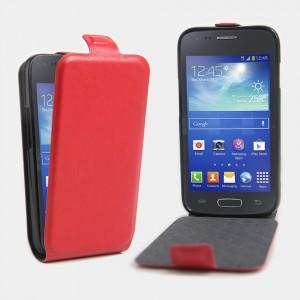Чехол вертикальная книжка на силиконовой основе на магнитной защелке для Samsung Galaxy Ace 4