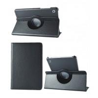 Роторный чехол книжка подставка на непрозрачной поликарбонатной основе для Huawei MediaPad M3 Lite 10  Черный