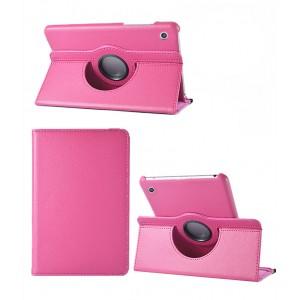 Роторный чехол книжка подставка на непрозрачной поликарбонатной основе для Huawei MediaPad M3 Lite 10  Пурпурный