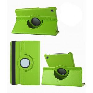 Роторный чехол книжка подставка на непрозрачной поликарбонатной основе для Huawei MediaPad M3 Lite 10  Зеленый