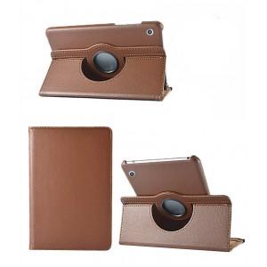 Роторный чехол книжка подставка на непрозрачной поликарбонатной основе для Huawei MediaPad M3 Lite 10  Коричневый