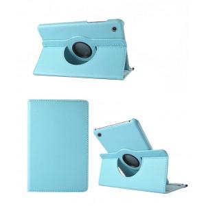 Роторный чехол книжка подставка на непрозрачной поликарбонатной основе для Huawei MediaPad M3 Lite 10  Голубой