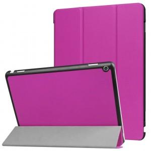 Сегментарный чехол книжка подставка на непрозрачной поликарбонатной основе для Huawei MediaPad M3 Lite 10  Фиолетовый