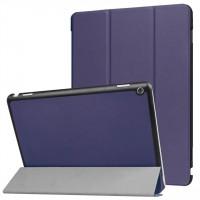 Сегментарный чехол книжка подставка на непрозрачной поликарбонатной основе для Huawei MediaPad M3 Lite 10  Синий