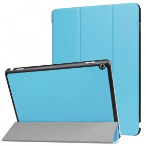 Сегментарный чехол книжка подставка на непрозрачной поликарбонатной основе для Huawei MediaPad M3 Lite 10  Голубой