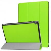 Сегментарный чехол книжка подставка на непрозрачной поликарбонатной основе для Huawei MediaPad M3 Lite 10  Зеленый