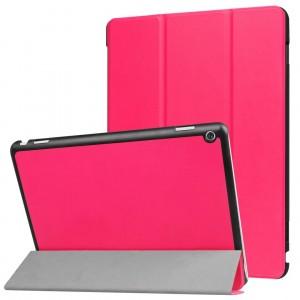 Сегментарный чехол книжка подставка на непрозрачной поликарбонатной основе для Huawei MediaPad M3 Lite 10  Пурпурный