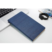 Чехол книжка подставка текстура Дерево на непрозрачной поликарбонатной основе для Huawei MediaPad M3 Lite 10  Синий