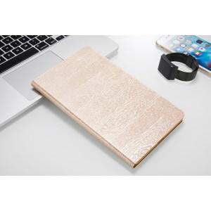 Чехол книжка подставка текстура Дерево на непрозрачной поликарбонатной основе для Huawei MediaPad M3 Lite 10  Бежевый
