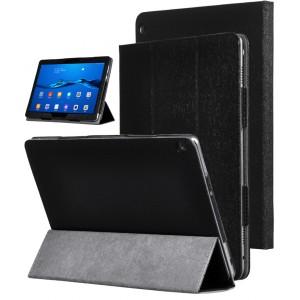 Сегментарный чехол книжка подставка текстура Золото с рамочной защитой экрана для Huawei MediaPad M3 Lite 10 Черный