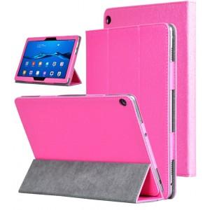 Сегментарный чехол книжка подставка текстура Золото с рамочной защитой экрана для Huawei MediaPad M3 Lite 10 Пурпурный