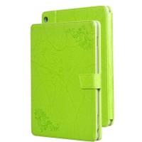 Чехол книжка подставка текстура Узоры на непрозрачной поликарбонатной основе с крепежом для стилуса для Huawei MediaPad M3 Lite 10  Зеленый