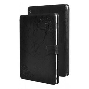 Чехол книжка подставка текстура Узоры на непрозрачной поликарбонатной основе с крепежом для стилуса для Huawei MediaPad M3 Lite 10  Черный