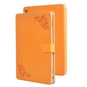 Чехол книжка подставка текстура Узоры на непрозрачной поликарбонатной основе с крепежом для стилуса для Huawei MediaPad M3 Lite 10  Оранжевый