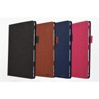 Чехол книжка подставка с рамочной защитой экрана, крепежом для стилуса и тканевым покрытием для Huawei MediaPad M3 Lite 10