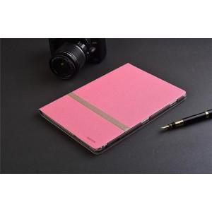 Чехол книжка подставка текстура Линии на непрозрачной поликарбонатной основе для Huawei MediaPad M3 Lite 10  Розовый