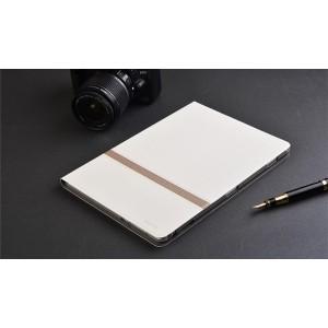 Чехол книжка подставка текстура Линии на непрозрачной поликарбонатной основе для Huawei MediaPad M3 Lite 10  Белый