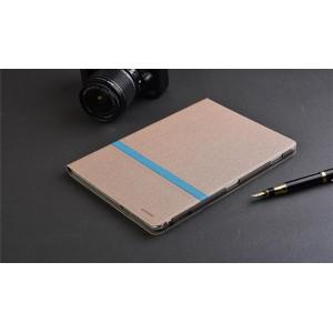 Чехол книжка подставка текстура Линии на непрозрачной поликарбонатной основе для Huawei MediaPad M3 Lite 10  Бежевый