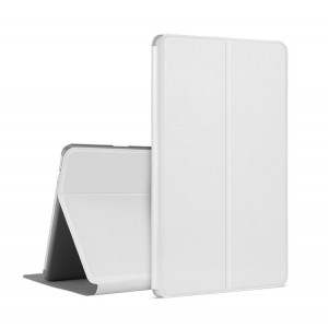 Чехол книжка подставка на непрозрачной поликарбонатной основе для Huawei MediaPad M3 Lite 10 Белый