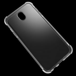 Эргономичный силиконовый матовый транспарентный чехол с усиленными углами для Samsung Galaxy J7 (2017)