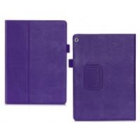 Чехол книжка подставка с рамочной защитой экрана, крепежом для стилуса, отсеком для карт и поддержкой кисти для Huawei MediaPad M3 Lite 10  Фиолетовый