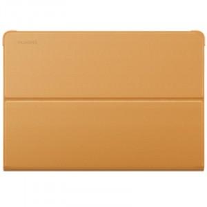 Оригинальный чехол книжка подставка на непрозрачной поликарбонатной основе для Huawei MediaPad M3 Lite 10  Коричневый